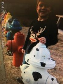 Christian is the official ambassador of the fire hydrant collection and has adopted this one which coincidentally was our 101st hydrant!