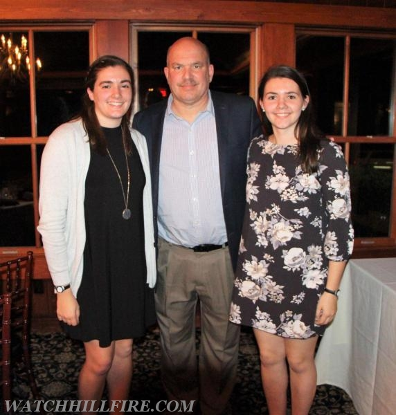 Hannah and Rachel with their father Dan, a DCFD Captain