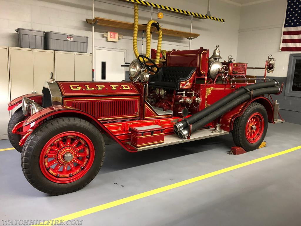 """""""Alfie"""" at home inside the WHFD station."""