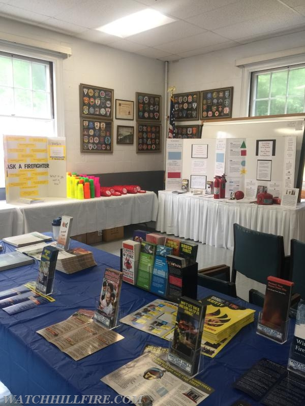 The Watch Hill Fire Meeting Room is stocked full of fire prevention resources and reminders.