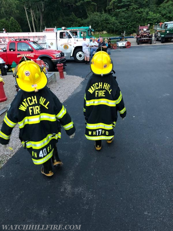Future firefighters are looking very prepared for anything that comes their way.