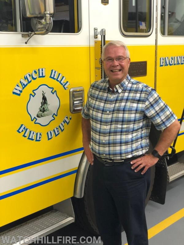 WHFD Chaplain the Rev. Dr. Cal Lord was named the September volunteer of the month!