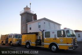 Engines 102 and 103 staging by the Lighthouse