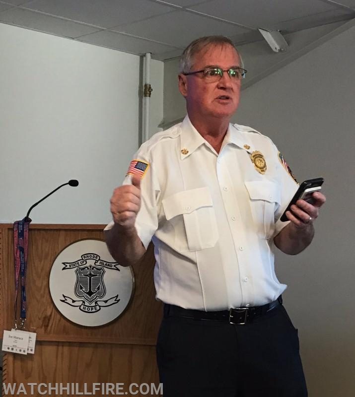Ret. South Kingstown Fire Chief Kevin Quinn talked about common themes in small town fire departments.