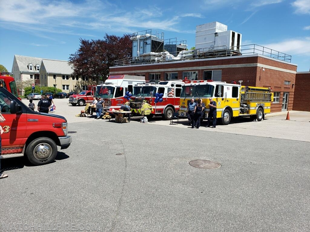 Local organizations including Watch Hill Fire, Dunns Corners Fire, Ashaway Fire, and Hope Valley Ambulance just prior to the start of the event.