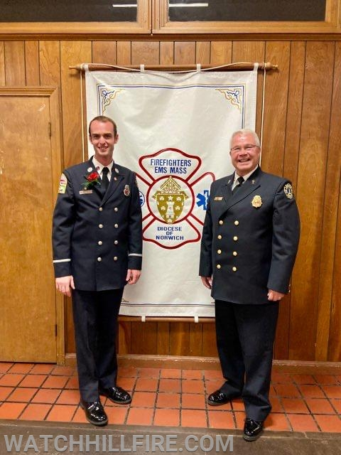 Lt. Koretski and Chaplain Lord represented WHFD.