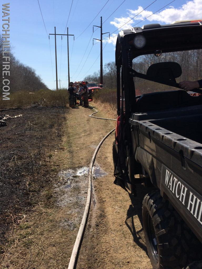 Watch Hill ATV 100 at a large mutual aid brush fire.
