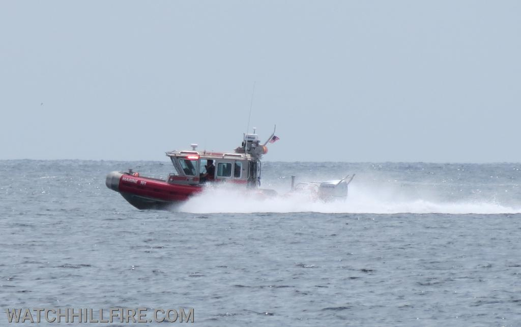 Watch Hill Marine 101 responding to a report of a capsized vessel!