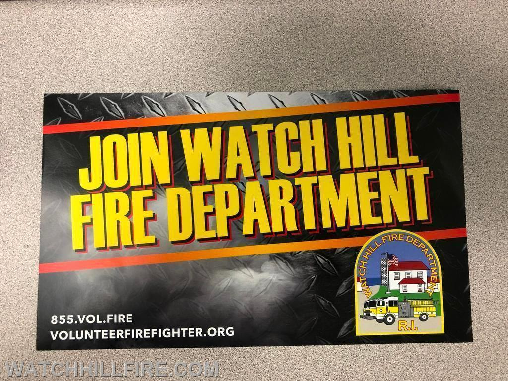 If you are interested in learning more about the various volunteer roles, please feel free to visit the station or call 401-348-8932.
