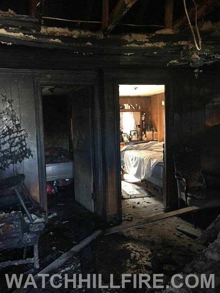 This image from a fire service website demonstrates the severe damage to the bedroom on the left with an open door contrasted by the lack of damage to the bedroom on the right which was protected by a closed door.   Image from www.fireengineering.com