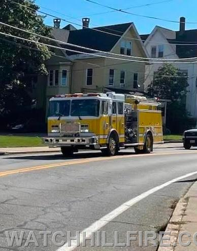 Watch Hill Engine 102 During the Procession