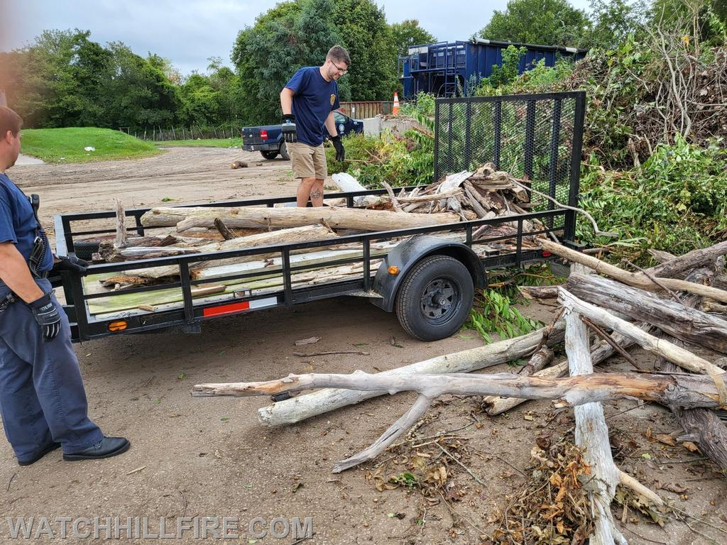 A small portion of the 1,480 pounds of driftwood collected and removed by Watch Hill Firefighters from the Napatree Point Conservation Area.